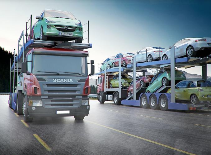 Превоз на автомобили от западна Европа с автовоз или единична платформа
